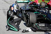 5th July 2020; Red Bull Ring, Spielberg Austria; F1 Grand Prix of Austria, Race Day; 77 Valtteri Bottas FIN, Mercedes-AMG Petronas Formula One Team celebrates the win in parc ferme