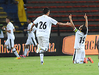 MEDELLIN -COLOMBIA- 18-08-2013.Jugadores de Alianza Petrolera celebran el gol de su compa–ero  Freddy Machado que le da la  victoria ante Medellin   ,  partido correspondiente a la cuarta fecha de La  Liga Postobon segundo semestre disputado en el estadio  Atanasio Girardot /  Oil Alliance players celebrate the goal by teammate Freddy Machado gives victory to Medellin, game in the fourth round of the second half League Europa League match at the Atanasio Girardot stadium Photo: VizzorImage / Luis Rios / Stringer