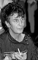 Jacques Higelin et Diane Dufresne rencontre les  medias a Montreal pour le spectacle ROSE de Diane Dufresne, 7 Aout 1984 au restaurant Helene-de-Champlain.<br /> <br /> Le spectacle ROSE au Stade Olympique de Montreal  le 16 aout 1984, 55 000 personnes etaient sur place.<br /> <br /> <br /> PHOTO :  Agence Quebec Presse