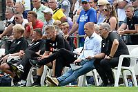 ROLDE - Voetbal, FC Groningen - FC Emmen, voorbereiding seizoen 2018-2019,  21-07-2018,     <br /> Groningen bank met Danny Buijs en Hennie Spijkerman