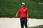 Adam Scott (AUS) playing out of the bunker on the 2nd fairway on day 1of the World Golf Championship Bridgestone Invitational, from Firestone Country Club, Akron, Ohio. 4/8/11.Picture Fran Caffrey www.golffile.ie