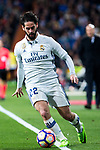 Isco Alarcon of Real Madrid in action  during the match of Spanish La Liga between Real Madrid and Real Betis at  Santiago Bernabeu Stadium in Madrid, Spain. March 12, 2017. (ALTERPHOTOS / Rodrigo Jimenez)