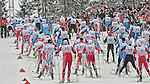 HOLMENKOLLEN, OSLO, NORWAY - March 16: Athletes during the Men 50 km mass start, free technique, at the FIS Cross Country World Cup on March 16, 2013 in Oslo, Norway. (Photo by Dirk Markgraf)