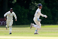 Wanstead celebrate the wicket of A Zaidi during Wanstead and Snaresbrook CC vs Ilford CC, Shepherd Neame Essex League Cricket at Overton Drive on 17th June 2017
