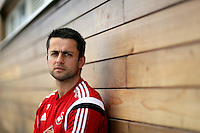 Pictured: Swansea City FC goalkeeper Lukasz Fabianski at the club's training ground in Fairwood, near Swansea, south Wales. Thursday 07 May 2015