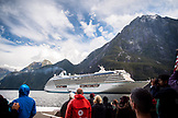 NEW ZEALAND, Fiordland National Park, Cruise Ship in Milford Sound, Ben M Thomas