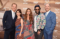 "LOS ANGELES, CA - APRIL 3: (L-R) Cast members Chris Geere, Aya Cash, Kether Donohue, Desmin Borges and Creator/EP/Showrunner/Writer/Director Stephen Falk attend the FYC Red Carpet event for the series finale of FX's ""You're the Worst"" at Regal Cinemas L.A. Live on April 3, 2019 in Los Angeles, California. (Photo by Frank Micelotta/FX/PictureGroup)"