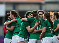 2nd February 2020; Energia Park, Dublin, Leinster, Ireland; International Womens Rugby, Six Nations, Ireland versus Scotland; Irish players celebrate a hard fought win