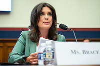 U.S. Correspondent for Seven News Australia Amelia Brace makes an opening statement during a House Natural Resources Committee hearing on Monday, June 29, 2020 to discuss the recent incident with U.S. Park Police removing protesters and journalists on June 1st at St. John's Episcopal Church near the White House for President Trump to conduct a photo op.<br /> Credit: Bonnie Cash / Pool via CNP / MediaPunch