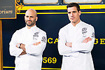 Chef Sam Kass and Miguel Cobo during the presentation of Exploratorium of San Miguel Selecta at Museo del Ferrocarril in Madrid. March 22, 2017. (ALTERPHOTOS/Borja B.Hojas)