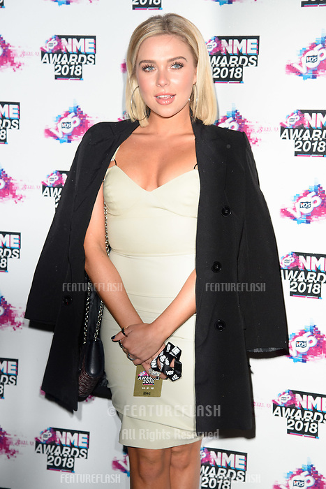 Gaby Allen at the VO5 NME Awards 2018 at the Brixton Academy, London, UK. <br /> 14 February  2018<br /> Picture: Steve Vas/Featureflash/SilverHub 0208 004 5359 sales@silverhubmedia.com