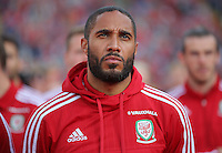 """Pictured: Ashley Williams at the Cardiff City Stadium Friday 08 July 2016<br />Re: Thousands of fans are expected to line the streets to welcome back the Wales national team. An open top bus will parade through Cardiff, from Cardiff Castle to Cardiff City Stadium where the Manic Street Preachers will play to 33,000 people.<br />The parade comes after Wales lost 2-0 to Portugal in the semi-final on Wednesday, with their historic run hailed as a performance which has """"changed Welsh football forever""""."""