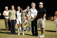 SAN ANTONIO, TX - OCTOBER 22, 2010: The Southeastern Louisiana University Lions vs. the University of Texas at San Antonio Roadrunners Women's Soccer at Roadrunner Field. (Photo by Jeff Huehn)