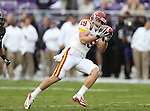 Iowa State Cyclones wide receiver Josh Lenz (19) in action during the game between the Iowa State Cyclones and the TCU Horned Frogs  at the Amon G. Carter Stadium in Fort Worth, Texas. Iowa State leads TCU 16 to 10 at halftime....