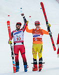 PyeongChang 14/3/2018 - Mac Marcoux and guide Jack Leitch skis to the bronze in the giant slalom at the Jeongseon Alpine Centre during the 2018 Winter Paralympic Games in Pyeongchang, Korea. Photo: Dave Holland/Canadian Paralympic Committee