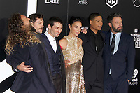 LOS ANGELES, CA - NOVEMBER 13: Gal Gadot, Ray Fisher, Ezra Miller, Ben Affleck, Henry Cavill, Jason Momoa, at the Justice League film Premiere on November 13, 2017 at the Dolby Theatre in Los Angeles, California. Credit: Faye Sadou/MediaPunch /NortePhoto.com