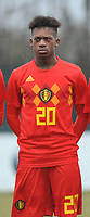 20180308 - TUBIZE , BELGIUM : Belgian Fostave Mabani pictured during a friendly game between the teams of the Belgian Red Devils Under 16 and Northern Ireland Under 16 at the Belgian Football Centre in Tubize , Thursday 8 th March 2018 ,  PHOTO Dirk Vuylsteke | Sportpix.Be