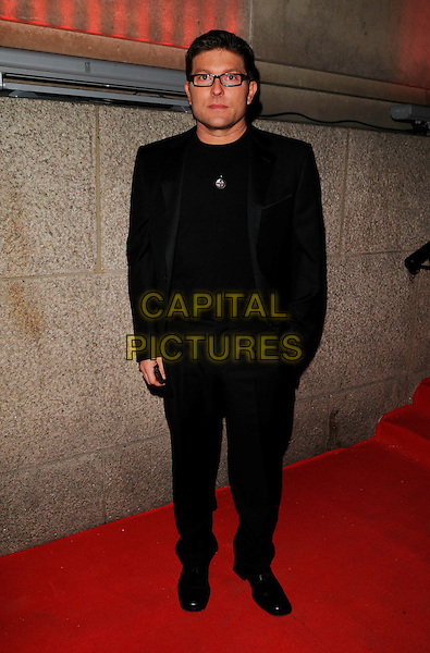 KENNY GOSS.Attending Andy & Patti Wong's Chinese New Year Party, County Hall, Westminster Bridge Road, London, England, 26th January 2008. .full length black suit.CAP/CAN.©Can Nguyen/Capital Pictures