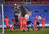7th July 2020; Madejski Stadium, Reading, Berkshire, England; English Championship Football, Reading versus Huddersfield; Jonas Lossl of Huddersfield takes the corner cross easily