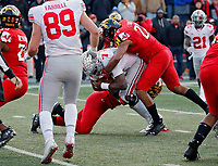Ohio State Buckeyes quarterback Dwayne Haskins Jr. (7) scores a rushing touchdown against Maryland Terrapins during overtime of their game at Capital One Field at Maryland Stadium in College Park, Maryland on November 17, 2018. [Kyle Robertson/Dispatch]