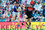 Jack Barry Kerry in action against Seamus O'Shea Mayo in the All Ireland Semi Final in Croke Park on Sunday.