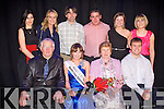 KERRY ROSE: The Kerry Rose 2011 Si?le Ni? Dheargain with her mam and dad and family at the Ballyroe Heights hotel on Saturday seated l-r: Miche?al O? Dearga?in, Kerry Rose 2011 Si?le Ni? Dheargain, Maire Ni? Dheargain and Cathal Lynch. Back l-r: Laura Ginevra, Clionadh Dargan, Declan Dargan, Martin McSweeney, Sinead Sullivan and Niamh Johnston.