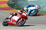 CEV Repsol en Motorland / Aragón <br /> a 07/06/2014 <br /> En la foto :<br /> Moto2<br /> 44 odendaal<br /> 57 pons<br />RM/PHOTOCALL3000