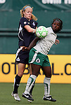 18 July 2009: Saint Louis' Eniola Aluka (ENG) (right) and Washington's Becky Sauerbrunn (left). The Washington Freedom defeated Saint Louis Athletica 1-0 at the RFK Stadium in Washington, DC in a regular season Women's Professional Soccer game.
