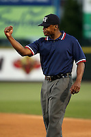 June 20th 2008:  NY-Penn League base umpire Doug Vines during a game at Frontier Field in Rochester, NY - home of the Rochester Red Wings.  Photo by:  Mike Janes/Four Seam Images