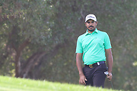 Gaganjeet Bhullar (IND) on the 2nd during Round 4 of the Omega Dubai Desert Classic, Emirates Golf Club, Dubai,  United Arab Emirates. 27/01/2019<br /> Picture: Golffile | Thos Caffrey<br /> <br /> <br /> All photo usage must carry mandatory copyright credit (&copy; Golffile | Thos Caffrey)