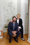 HUgh Jackman and Deborra Lee Furness in New York City unveil their plans for a foundation to promote performing arts in Western Australia. Jackman is a graduate of the West Australian Academy of Performing Arts. pic by Trevor Collens.