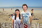 Orla and Patrick Long, Tralee enjoying Ballyheigue Beach in the Sunshine.