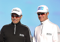 01  OCT 14 Sami and Mikko Ilonen during Wednesday's  practice at The Alfred Dunhill Links Championship at The Old Course in St. Andrews, Scotland. (photo credit : kenneth e. dennis/kendennisphoto.com)