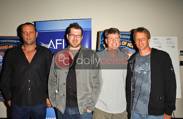 Vince Vaughn and Seth Gordon with Steve Wiebe and Tony Hawk<br />at the Los Angeles Premiere of The King of Kong a Fistful of Quarters. Arclight Theaters, Hollywood, CA. 08-16-07<br />Dave Edwards/DailyCeleb.com 818-249-4998