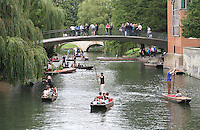 Punting on the River Cam.Cambridge, U.K - A variety of scenes at the historic university city of Cambridge, England -  September 2nd 2012..Photo by Keith Mayhew