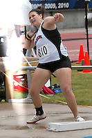 Jackson sophomore  Nicole Humphreys spins in the ring where she earned a fourth-place finish in the Class 5 shot put at the 2015 Missouri State Track and Field Championships. Humphrey's best mark was 39-02.