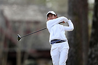 WALLACE, NC - MARCH 09: Warda Amira Rawof of East Tennessee State University tees off on the 16th hole of the River Course at River Landing Country Club on March 09, 2020 in Wallace, North Carolina.