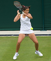 Laura Robson (GBR) against  Daniela Hantuchova (SVK) in the first round of the Ladies Singles. Hantuchova beat Robson 3-6 6-4 6-2 ..Tennis - Wimbledon - Day 1 - Mon 22nd June 2009 - All England Lawn Tennis Club  - Wimbledon - London - United Kingdom..Frey Images, Barry House, 20-22 Worple Road, London, SW19 4DH.Tel - +44 20 8947 0100.Cell - +44 7843 383 012..Tennis - Wimbledon - Day 1 - Monday 22nd June 2009 - All England Lawn Tennis Club  - Wimbledon - London - United Kingdom..Frey Images, Barry House, 20-22 Worple Road, London, SW19 4DH.Tel - +44 20 8947 0100.Cell - +44 7843 383 012