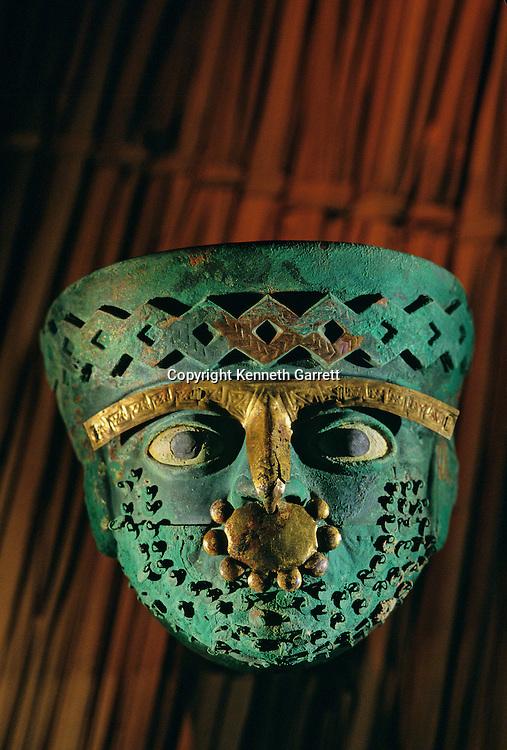 Moche, Death Mask, Burials, Huaca Dos Cabezas-Jecetepeque, Peru