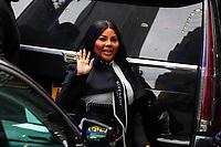 NOVA YORK, EUA, 08.10.2019 - CELEBRIDADE-EUA - Kimberly Denise Jones, conhecida como Lil' Kim, é uma rapper, trapper, cantora, compositora, atriz, e modelo americana é vista na região da Times Square em Nova York nesta terça-feira, 08. (Foto: William Volcov/Brazil Photo Press)