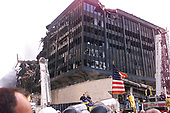 Some of the devastation at the World Trade Center in New York, New York as seen by United States President George W. Bush as he toured the disaster site three days following the September 11 terrorist attack on September 14, 2001.<br /> Credit: Consolidated News Photos