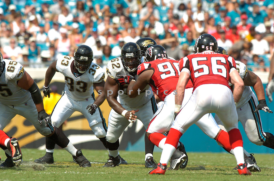 DENNIS NORMAN, of the Jacksonville Jaguars, in action during the Jaguars game against the Atlanta Falcons  in Jacksonville, FL on September 16, 2007.  The Jaguars won the game 13-7............