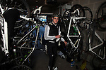 ENGLAND - JANUARY 19:  Triathlete Jonathan Brownlee of the Great Britain tours his garage at their home on January 19, 2012 in Great Britain  (Photo by Donald Miralle) *** Local Caption ***
