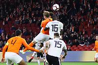 goal, Tor zum 1:2 für Matthijs de Ligt (Niederlande, Netherlands) - 24.03.2019: Niederlande vs. Deutschland, EM-Qualifikation, Amsterdam Arena, DISCLAIMER: DFB regulations prohibit any use of photographs as image sequences and/or quasi-video.