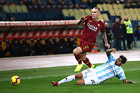 Rick Karsdorp of AS Roma , Gabriel Cleur Entella <br /> Roma 14-01-2019 Stadio Olimpico<br /> Football Calcio Coppa Italia 2018/2019 Round of 16  <br /> AS Roma - Virtus Entella<br /> Foto Gino Mancini / Insidefoto