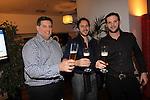 Cardiff, WALES - November 22:.Otley Brewery event at the Radisson Blu Hotel.Colin Davies, David Hopkins & David Rogers.22.11.12..©Steve Pope