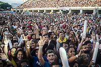 RIO DE JANEIRO, RJ, 05.04.2014 - RIO VERAO FESTIVAL  - O cantor Naldo durante apresentacao no Rio Verao Festival na Apoteose no Rio de Janeiro, neste sabado, 05. (Foto: Técio Teixeira / Brazil Photo Press).