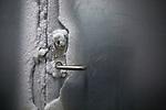 Door to the Global Seed Vault in Svalbard, Norway where the temperature is between 16-30 degrees below zero.