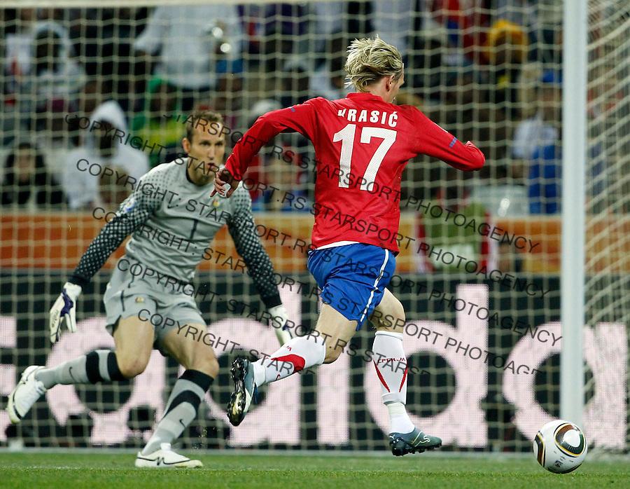 Milos Krasic Soccer Football - 2010 FIFA World Cup - Group D - Australia v  Serbia 61b420e244110