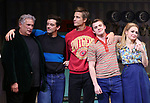 "Harvey Fierstein, Michael Urie, Ward Horton, Jack DiFalco and Roxanna Hope Radja  during the Broadway Opening Night Curtain Call for ""Torch Song"" at the Hayes Theater on November 1, 2018 in New York City."